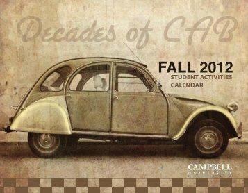 Fall 2012 Calendar - Campbell University