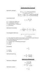 Elektrotechnik Formeln - IG-ILS