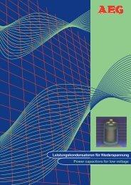 Leistungskondensatoren für Niederspannung Power capacitors for ...