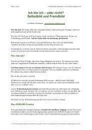 Selbstbild und Fremdbild - Kreativesdenken.com