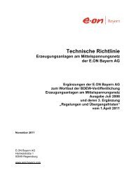 Technische Richtlinie Erzeugungsanlagen am ... - E.ON Bayern