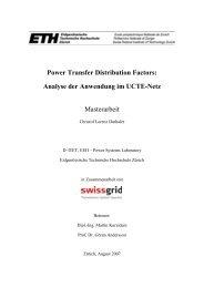 Power Transfer Distribution Factors: Analyse der ... - EEH - ETH Zürich