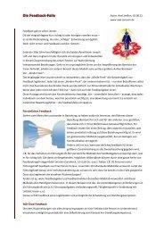 Die Feedback-Falle (pdf) - Axel Janßen