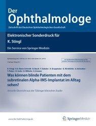 Elektronischer Sonderdruck für Was können blinde Patienten mit ...