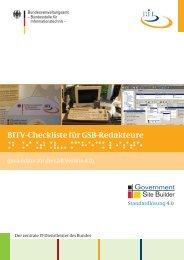 BITV-Checkliste für GSB-Redakteure - Bundesstelle für ...