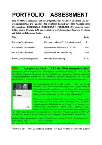 Portfolio Assessment - Auer Consulting & Partner