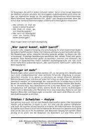 Stärken / Schwächen - Analyse