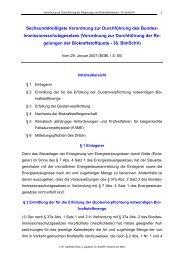 Sechsunddreißigste Verordnung zur Durchführung des Bundes ...