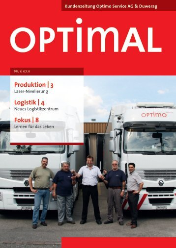 Produktion | 3 Logistik | 4 Fokus | 8 - Optimo Service AG