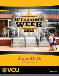 continued - Welcome Week - Virginia Commonwealth University