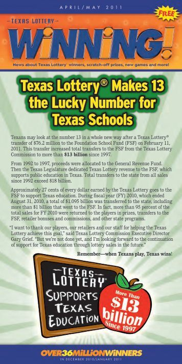 Over36MilliOnWinners - Texas Lottery