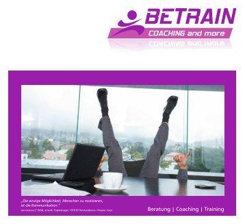 Beratung | Coaching | Training - BETRAIN GmbH & Co. KG