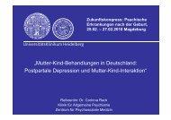 Postpartale Depression und - Städtisches Klinikum Magdeburg