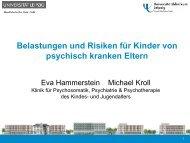Vortrag Belastung und Risiken für Kinder von psychisch kranken ...
