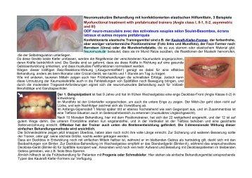 Neuromuskuläre Behandlung mit konfektionierten elastischen ...