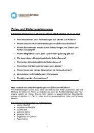 Zahn- und Kieferregulierungen - Zahnarzt Praxis Herchenröther in ...