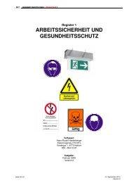 ARBEITSSICHERHEIT UND GESUNDHEITSSCHUTZ - ibn.ch