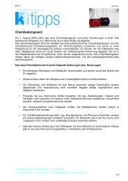 Chemikaliengesetz - Konsumentenforum kf