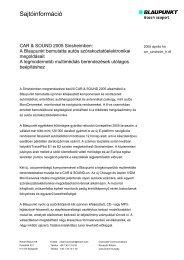 Sajtóinformáció (72 kB) - Bosch