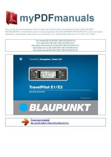 blaupunkt travelpilot e freestyler software