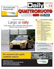Largo ai rally - Editoriale Domus