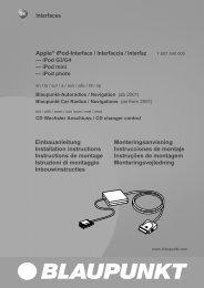 Interfaces Einbauanleitung Installation instructions ... - Blaupunkt