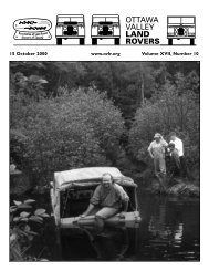 The OVLR Newsletter - Ottawa Valley Land Rovers