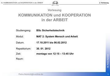 Kommunikation - Bergische Universität Wuppertal