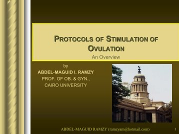 Protocols of stimulation of ovulation. An overview - Abdel ... - GFMER