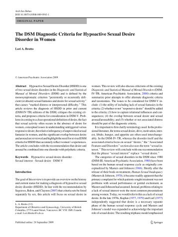Dsm v aspergers and hypersexuality