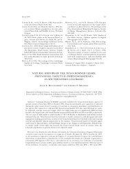 Natural history of the Texas Horned Lizard, Phrynosoma
