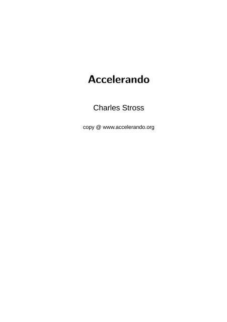 SiSU: - Accelerando