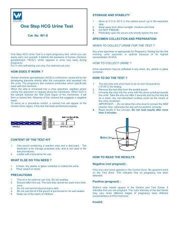 One Step Hcg Urine Pregnancy Test Cassette Format Btnx Inc