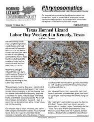 Phrynosomatics Copy Editor - Horned Lizard Conservation Society