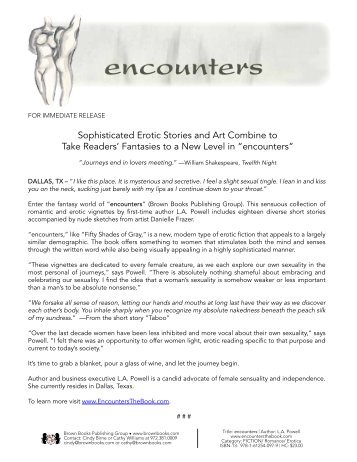 Sophisticated Erotic Stories And Art Combine To Take Encounters