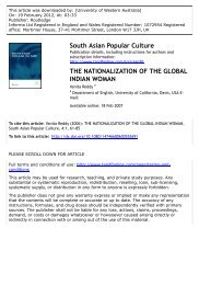 the nationalization of the global indian woman - Rural Economies