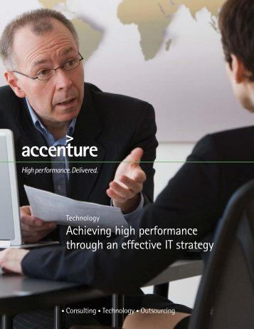Achieving high performance through an effective IT strategy
