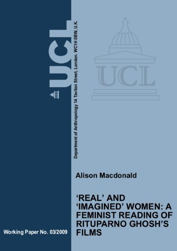 'Real' and 'Imagined' Women - University College London