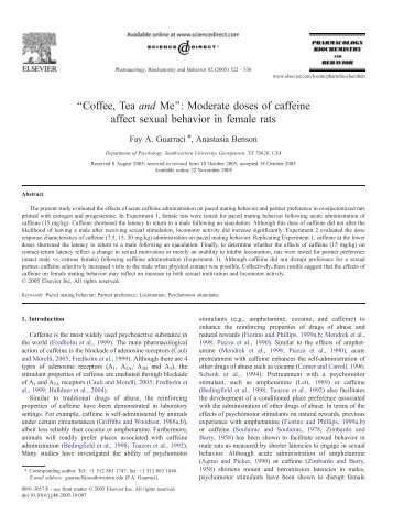 ''Coffee, Tea and Me'': Moderate doses of caffeine affect ... - Dermage