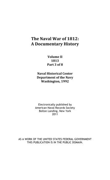 The Naval War of 1812, Volume 2, Chapter 1 - Ibiblio