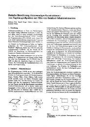 Statische Berechnung dünnwandiger Konstruktionen von ...