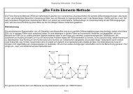 Die Finite Elemente Methode - Mathematisches Institut der ...