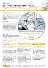 Ing+-Pakete mit Statik, FEM und CAD - mb AEC Software GmbH