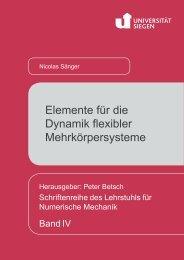 Elemente für die Dynamik flexibler Mehrkörpersysteme - Universität ...