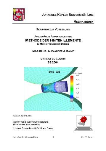 Ausgewhlte Anwendungen der FEM (Finite Elemente Methode) im ...