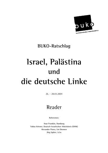 Israel, Palästina und die deutsche Linke - Buko