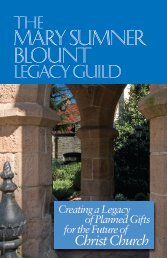 The Mary Sumner Blount Legacy Guild - Christ Church