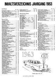 INHALTSVERZEICHNIS JAHRGANG 1963 - Auto Motor und Sport
