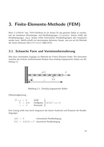 3. Finite-Elemente-Methode (FEM)