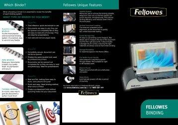 FELLOWES binding - Who-sells-it.com